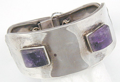 Newly Added Mexican Sterling Amethyst Bracelet