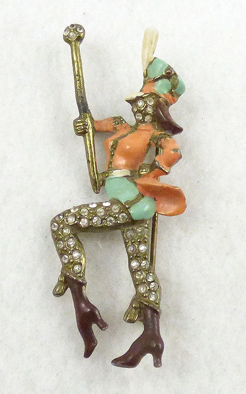 Newly Added Drum Majorette Brooch