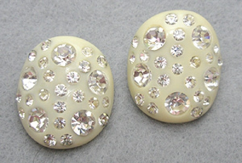 Newly Added Weiss Thermoset Ivory Earrings