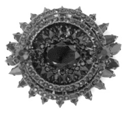 Newly Added Vendome Black Rhinestone Brooch