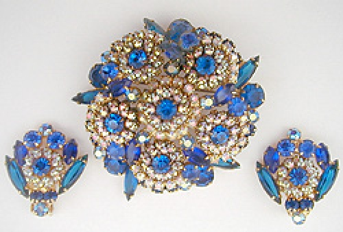 Newly Added DeLizza & Elster Blue & Aurora Brooch Set