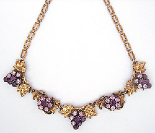 Newly Added Florenza Purple Grapes Necklace