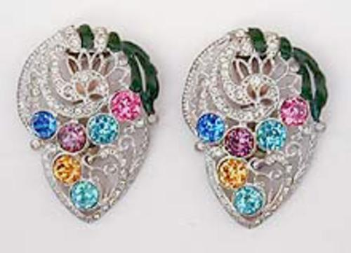 Newly Added 1930's Dress Clip Pair
