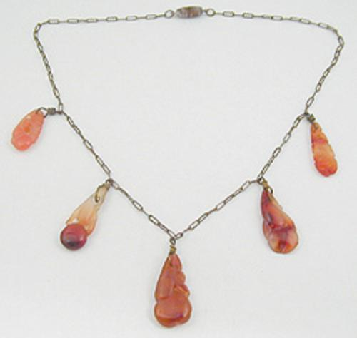 Newly Added Art Nouveau Carnelian Necklace