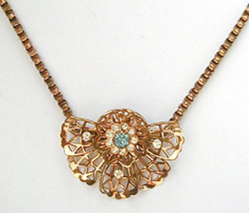 Newly Added Retro Half Flower Motif Necklace