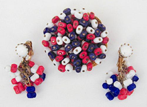 Newly Added Hobé Patriotic Bead Brooch Set