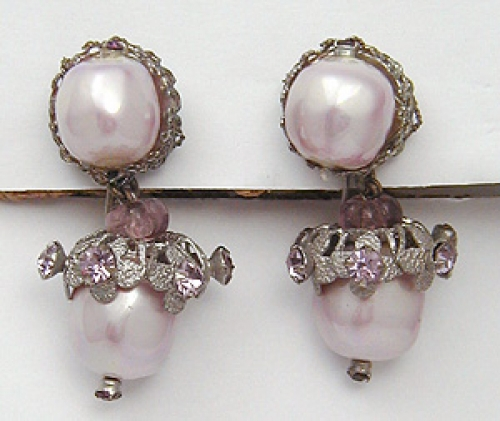 Newly Added DeMario Blush Pearl Chandelier Earrings