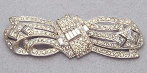 Newly Added Art Deco Rhinestone Brooch