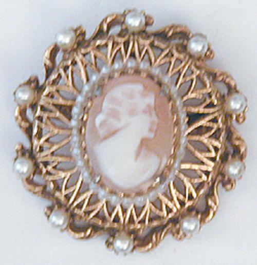 Newly Added Florenza Cameo Brooch