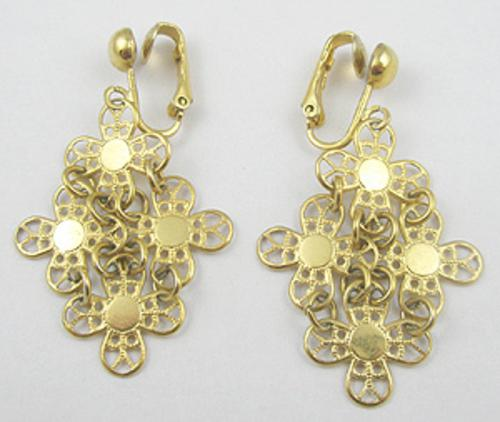 Newly Added Sarah Coventry Golden Petals Earrings