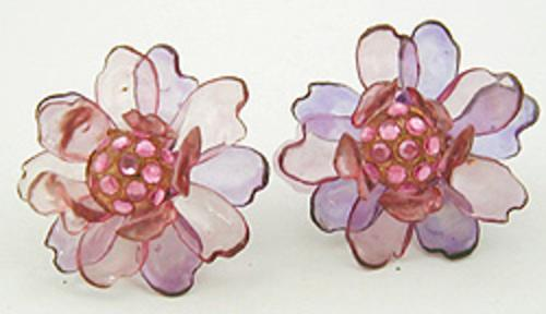 Newly Added Cellulose Acetate Flower Earrings