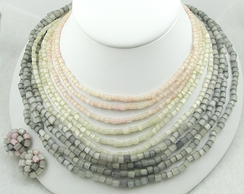 4e6290ddc22f1 Vogue Mother-of-Pearl Beads Necklace Set - Garden Party Collection ...