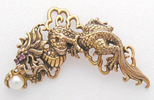 Newly Added Frankln Mint Sterling Dragon Brooch