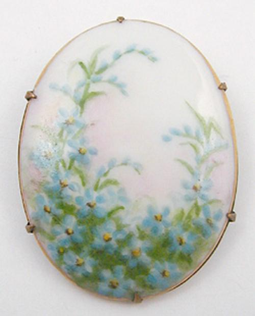 Newly Added Hand Painted Porcelain Brooch
