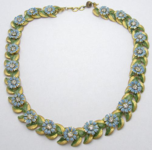 Newly Added Sandor enameled Flowers Necklace