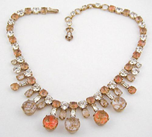 Newly Added Schreiner Orange Glass Necklace