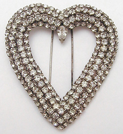 Newly Added Depose French Rhinestone Heart Fur clip