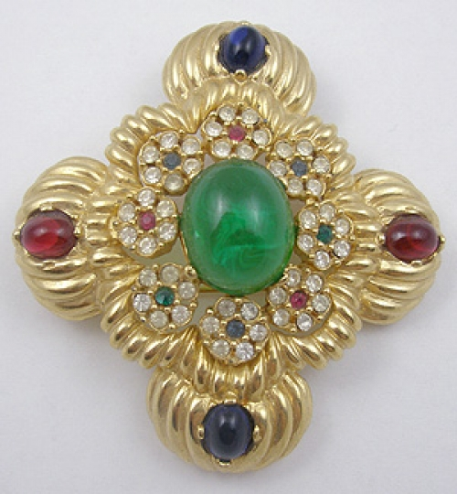 Newly Added Ciner Maltese Cross Brooch