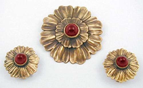 Newly Added Joseff of Hollywood Flower Brooch Set