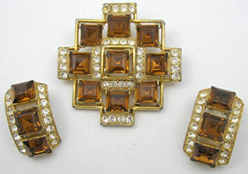 Newly Added Bogoff Topaz Brooch Set