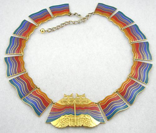 Newly Added Laurel Burch Rainbow Cats Necklace