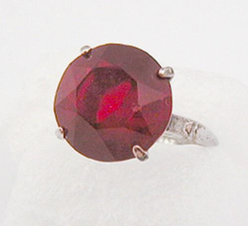 Newly Added Vargas Sterling Red Rhinestone Ring
