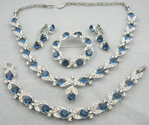 Newly Added Lisner Rhinestone Grand Parure