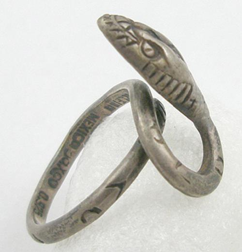 Newly Added Delfino Mexican Sterling Snake Ring