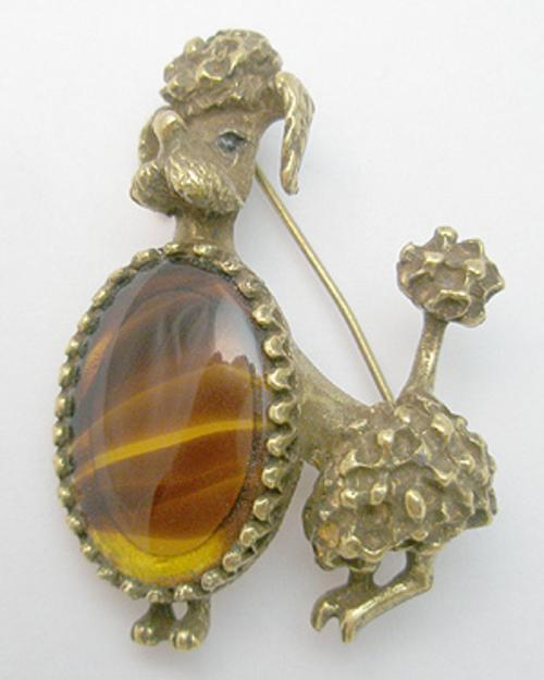Newly Added Glass Belly Poodle Brooch