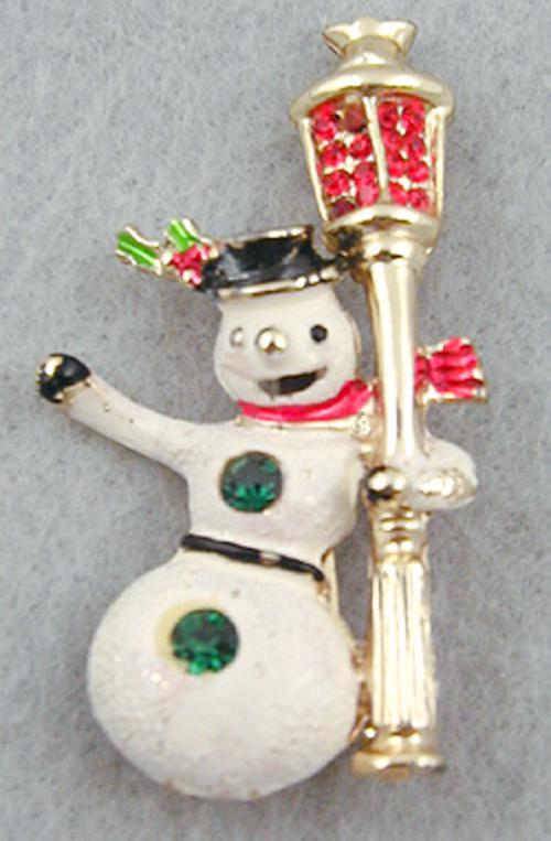 Newly Added Snowman Brooch
