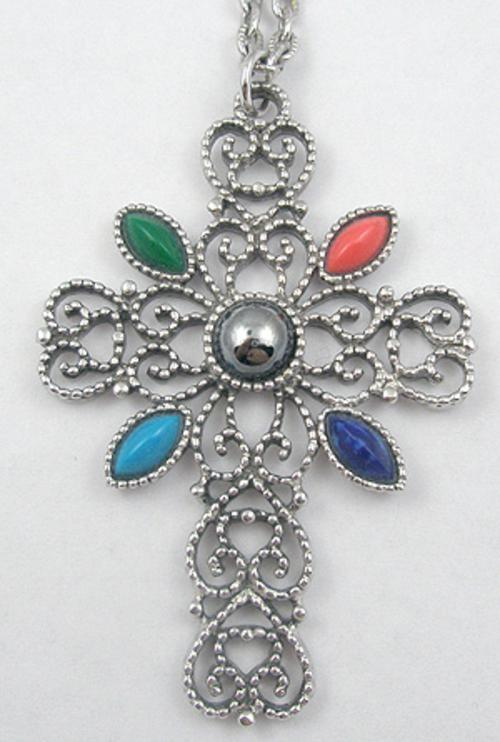 Newly Added Avon Romanesque Cross Necklace