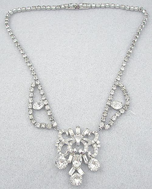 Newly Added Clear Rhinestone Necklace