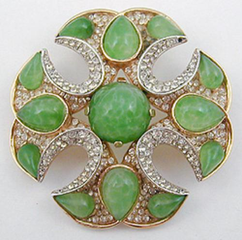 Newly Added Trifari Jewels 0f india Maltese Cross Brooch