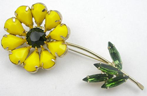 Newly Added Weiss Yellow Flower Brooch