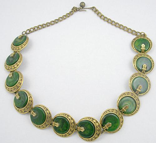 Newly Added Art Bakelite Link Necklace