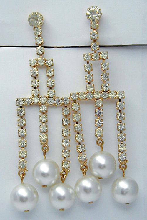 Newly Added Rhinestone & Faux Pearl Earrings