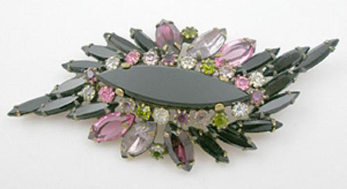 Newly Added Alice Caviness Black Rhinestone Brooch