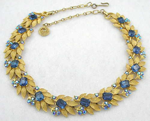 Newly Added Lisner Blue Rhinestone Necklace