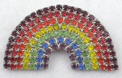 Newly Added Dorothy Bauer Rhinestone Rainbow Brooch