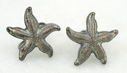 Newly Added Beau Sterling Starfish Earrings