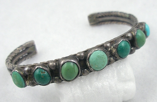 Newly Added Native American Old Pawn Turquoise Bracelet