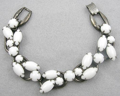 Newly Added Delizza & Elster Milk Glass Bracelet