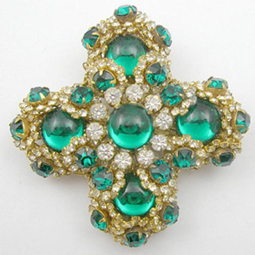 Newly Added Miriam Haskell Maltese Cross Brooch