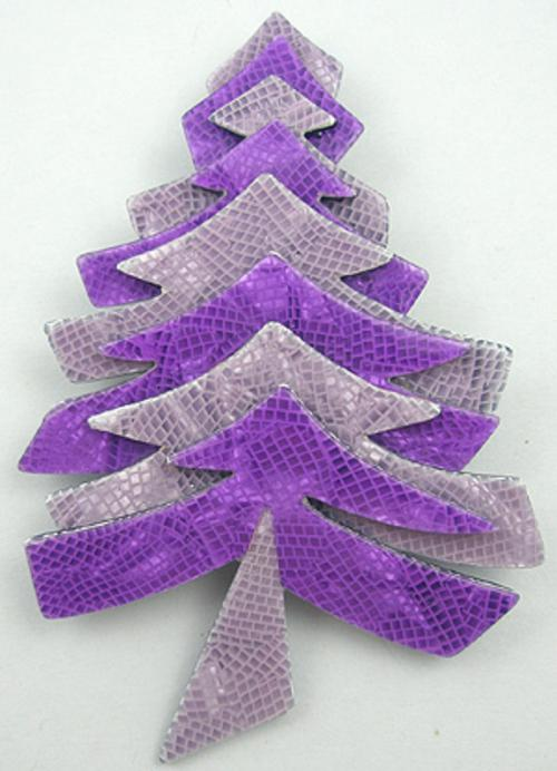 Newly Added Lea Stein Christmas Tree Brooch
