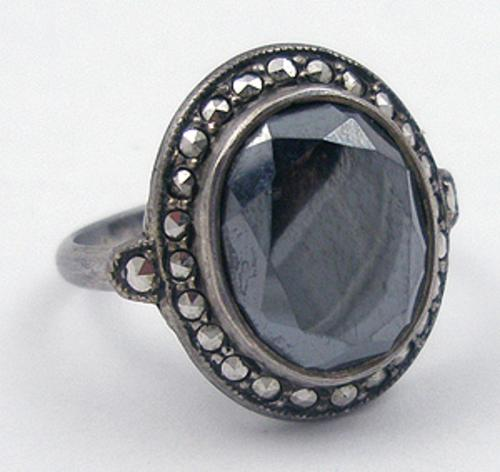 Newly Added Uncas Sterling Hematite Ring