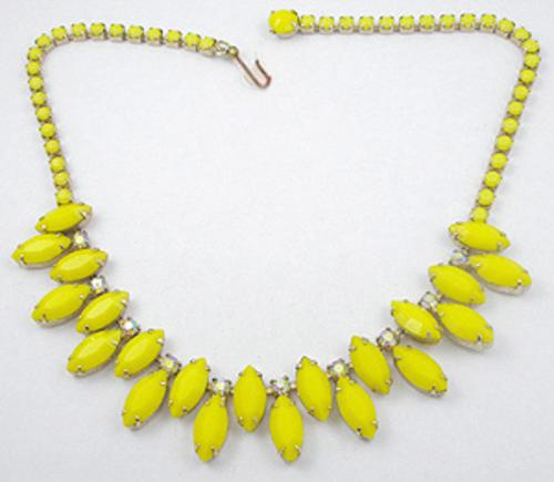 Newly Added Weiss Canary Yellow Rhinestone Necklace