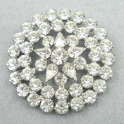 Newly Added Vintage Round Rhinestone Brooch
