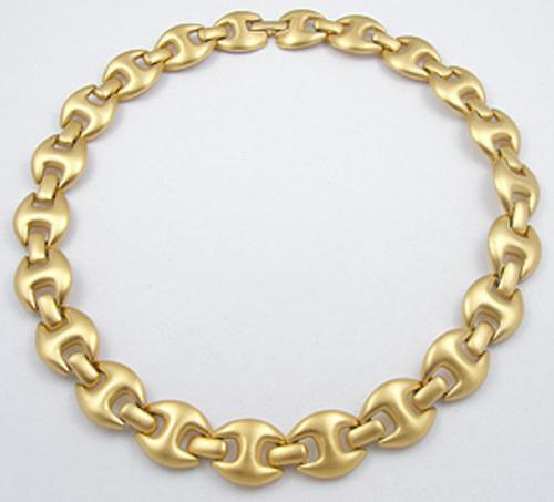Newly Added Monet Matte Gold Tone Necklace