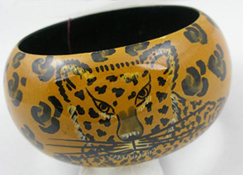 Newly Added Plastic Leopard Bangle Bracelet