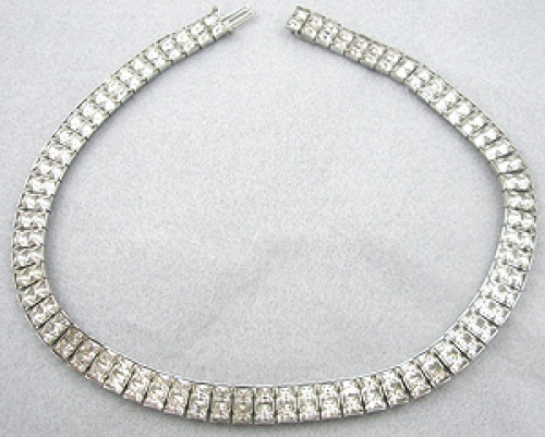 Newly Added Art Deco Rhinestone Line Necklace